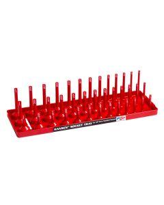 Hansen Global 3/8 in. Drive Fractional 3-Row Socket Tray