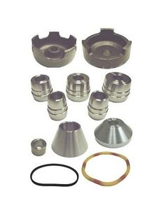 12-pc Brake Lathe 1 Bronze Adapter Set w/ Cones, Backing Plates, Spacer, Disk, Band, etc.