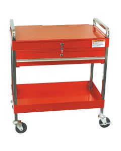 Sunex Tools Service Cart w/ Locking Top and-Drawer, Red