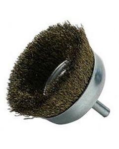 "Fine Brass Wire Cup Brush 3"""