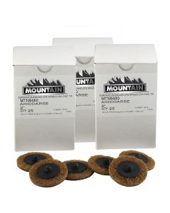 """3-PACK of 2"""" Twist and Lock Style Surface Prep Disc - 25/box"""