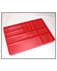 Plastic Tool Box Organizer, Red, 11 x 16 in.