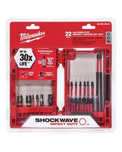 22-Piece Automotive Shockwave Impact Driver Bit Set