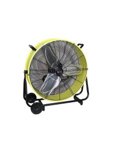 """24"""" Direct Drive Tilting Industrial Drum Fan, Safety Yellow"""
