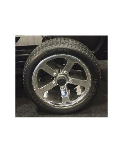 Solid Rubber Tires with Chrome Wheels (Set of 4)