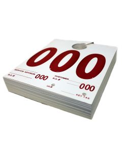 Petoskey Plastics 000-999 Dispatch Numbers, Dual Sided Heavy Cardstock