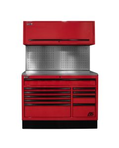 Homak Mfg. 54 in. CTS Centralized Tool Storage with Toolboard Back Splash Set, Red
