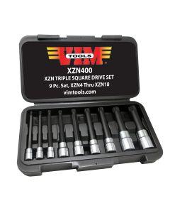 9-Piece XZN Triple Square, Spline Drive Bit Set