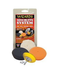 Mini Buffing System (1 each of 3 pads plus backing plate)