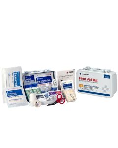 10 Person First Aid Kit, ANSI A, Metal Case