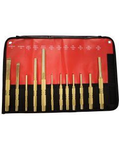 Mayhew 12-Piece Brass Punch and Scraper (SAE) Set