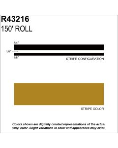 "MS, 1/2"" X 150'; Gold Metallic"
