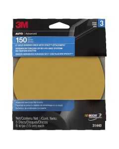 "DISC ROLLS-GOLD STIKIT 6"" P150 5/PK 10/CASE"