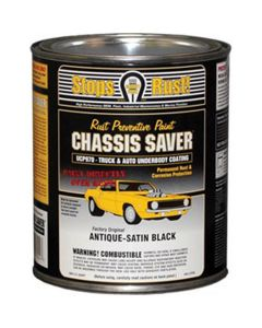 Chassis Saver Paint, Stops and Prevents Rust, Satin Black, 1 Quart Can