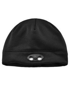 6804 Black Skull Cap Beanie Hat with LED Lights