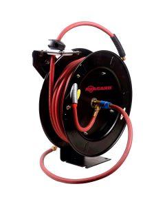 BluBird RMX Avagard AVGR3850 Metal Retractable Hose Reel w/ Premium 100% Rubber Air Hose, 300 psi (3/8 in. x 50 ft.)