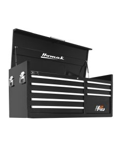 Homak Mfg. 56 in. H2Pro Series 8 Drawer Top Chest, Black
