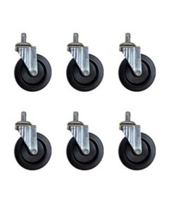 3? Push-in Type Casters for ShopSol; Set of 6; Replacement