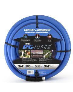 "BluBird AG-Lite Rubber Hot & Cold Water Hose; 3/4"" x 100'"