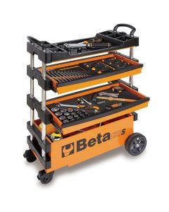 Folding Mobile Tool Cart, Orange