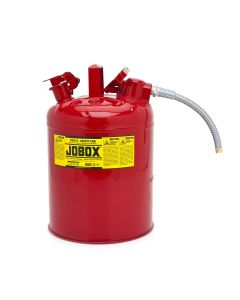 Jobox Type II Safety Can, 5 Gallon, Red