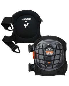 357 Black Short Cap Lightweight Gel Knee Pads