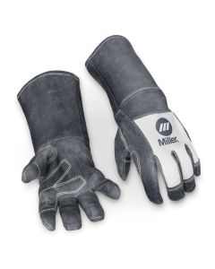 Miller Leather MiG Welding Gloves with Cuff, Large