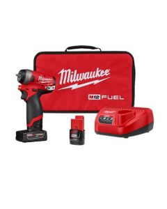 M12 FUEL 1/4 in. Stubby Impact Wrench w/ (2) Batteries Kit