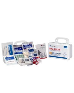 10 Person First Aid Kit, ANSI A, Plastic Case
