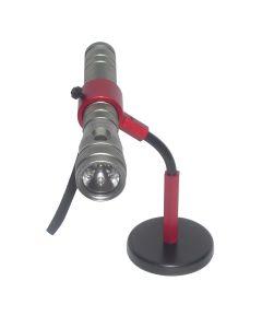 Red Anodized Flex Flashlight Grip