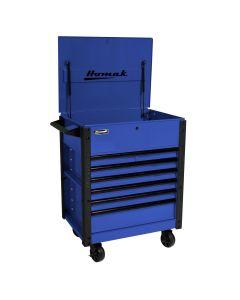 Homak Mfg. 35 in. Pro Series 7-Drawer Service Cart, Blue