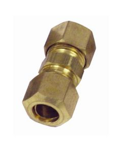 """5-pk of 3/8"""" Nylon to Steel Brass Compression Union Fuel Line Fittings"""