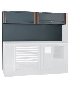 Tool Wall System with 2 Suspended Cabinets