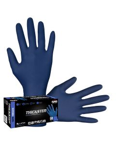 Box of 50 Thickster Powdered Latex Exam Grade Gloves, XL
