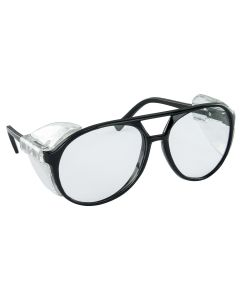 Classic Style Safe Glasses, Black Frame w/ Clear Lens