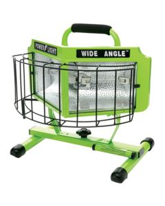 Halogen Work Light, 1000 Watt, Wide Angle Surround Lens, On/Off Switch, 18/3 5' Cord, UL Listed