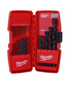 Milwaukee Thunderbolt Black Oxide Jobber Length 21-Piece Drill Bit Set in Case