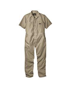 Short Sleeve Coverall Khaki, Large