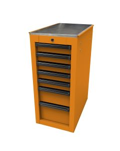 Homak Mfg. RS PRO 14-1/2 in. 7-Drawer Side Cabinet, Orange