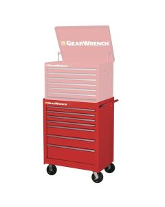 GearWrench 83125 TEP Series 27 in. 7-Drawer Roller Bottom Cabinet, Red