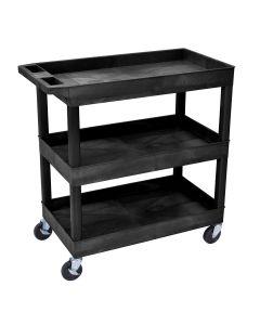 Luxor E-Series 3-Shelf Utility Cart