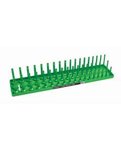 """1/2"""" Metric 3-Row Socket Tray, Green"""