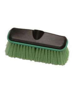 """Wash Brush Head Only, 10"""" Wide Plastic Block with Threaded Hole, Soft Flagged Polyester Bristles"""