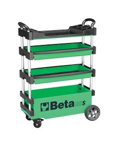 Folding Mobile Tool Cart, Extreme Green