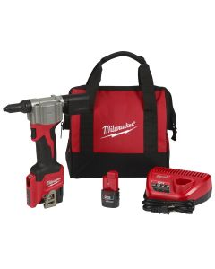 M12 Cordless Rivet Tool w/ (2) Batteries Kit