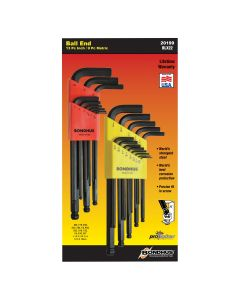Bondhus Ball End L-Wrench 22-Piece Multi-Pack in Sizes .050-3/8""