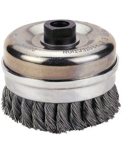 """Knot-Type Wire Cup Brush, 6"""" Diameter"""