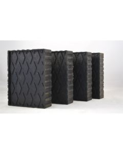 """4-pc Solid Molded Rubber Block Pad Kit (6 1/2"""" x 4 3/4"""" x 1 1/2"""")"""