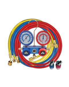 2-Way Manifold Gauge Set with 90 degree Snap and Seal Coupler