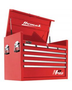 Homak Mfg. H2PRO Series 36 in. 8-Drawer Top Chest, Red